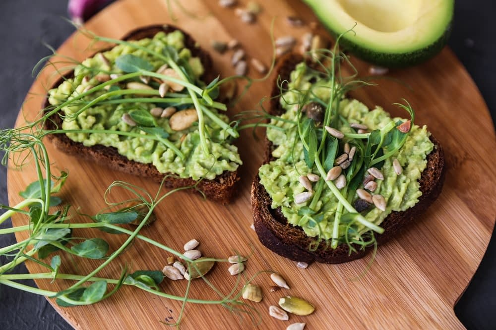 avocado toast Healthiest foods for the heart