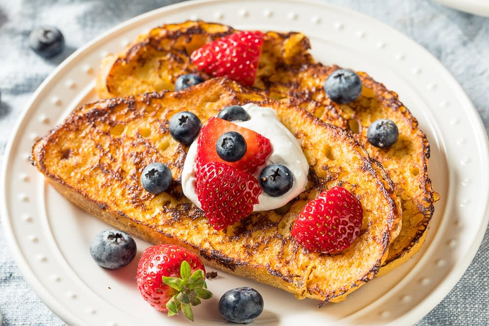 classic french toast made with stale bread