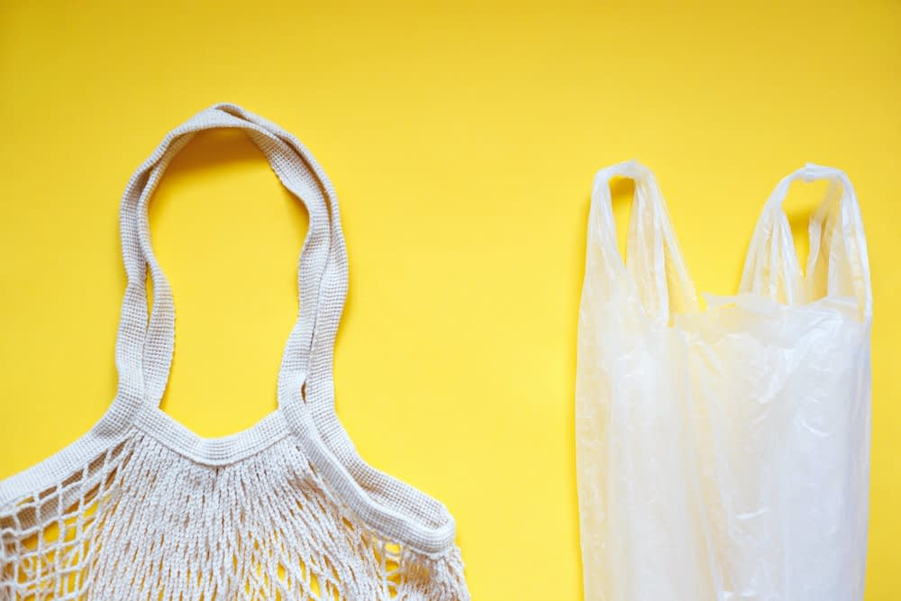plastic bag bans are swapping plastic bags with a reusable bag