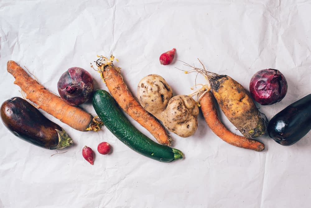Ugly over ripened vegetables and what to do with food scraps about to go bad