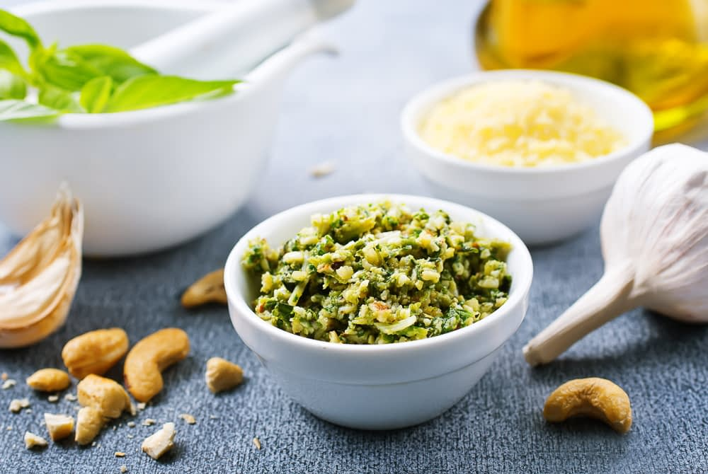 carrot top pesto as a great idea for what to do with food scraps