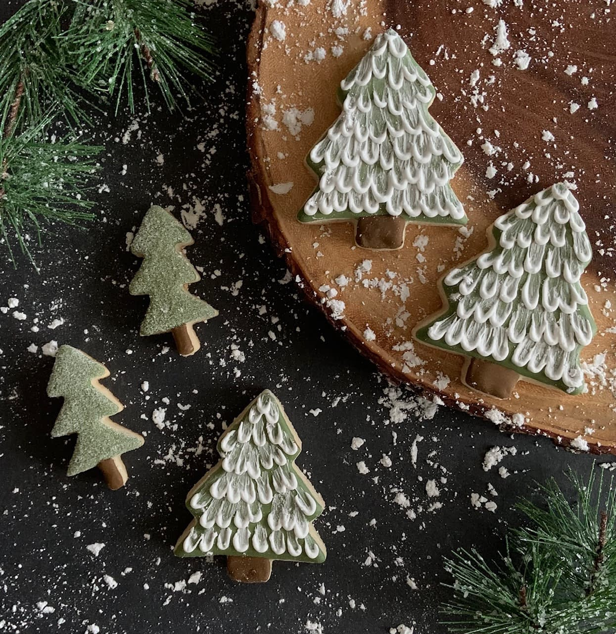 Christmas tree cut out sugar cookies