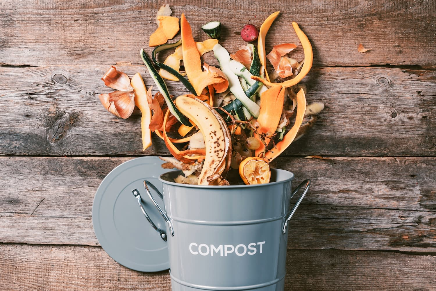 Compost in a compost bucket