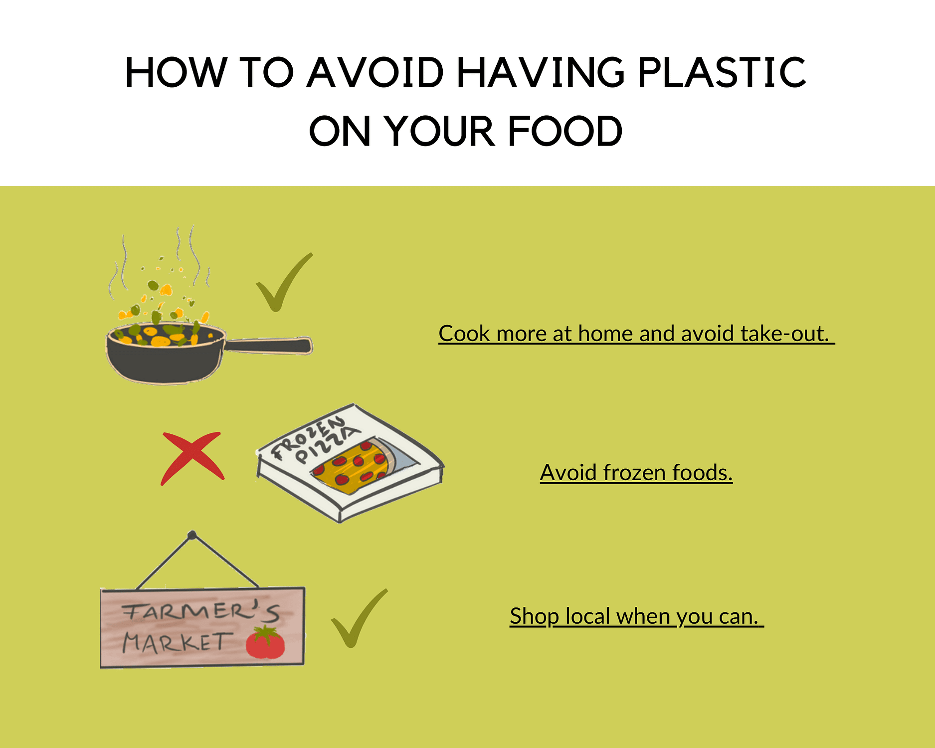 How to avoid plastic pollution