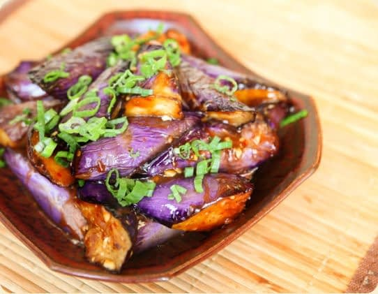 Egg plant dish from the Dragon Well restaurant.