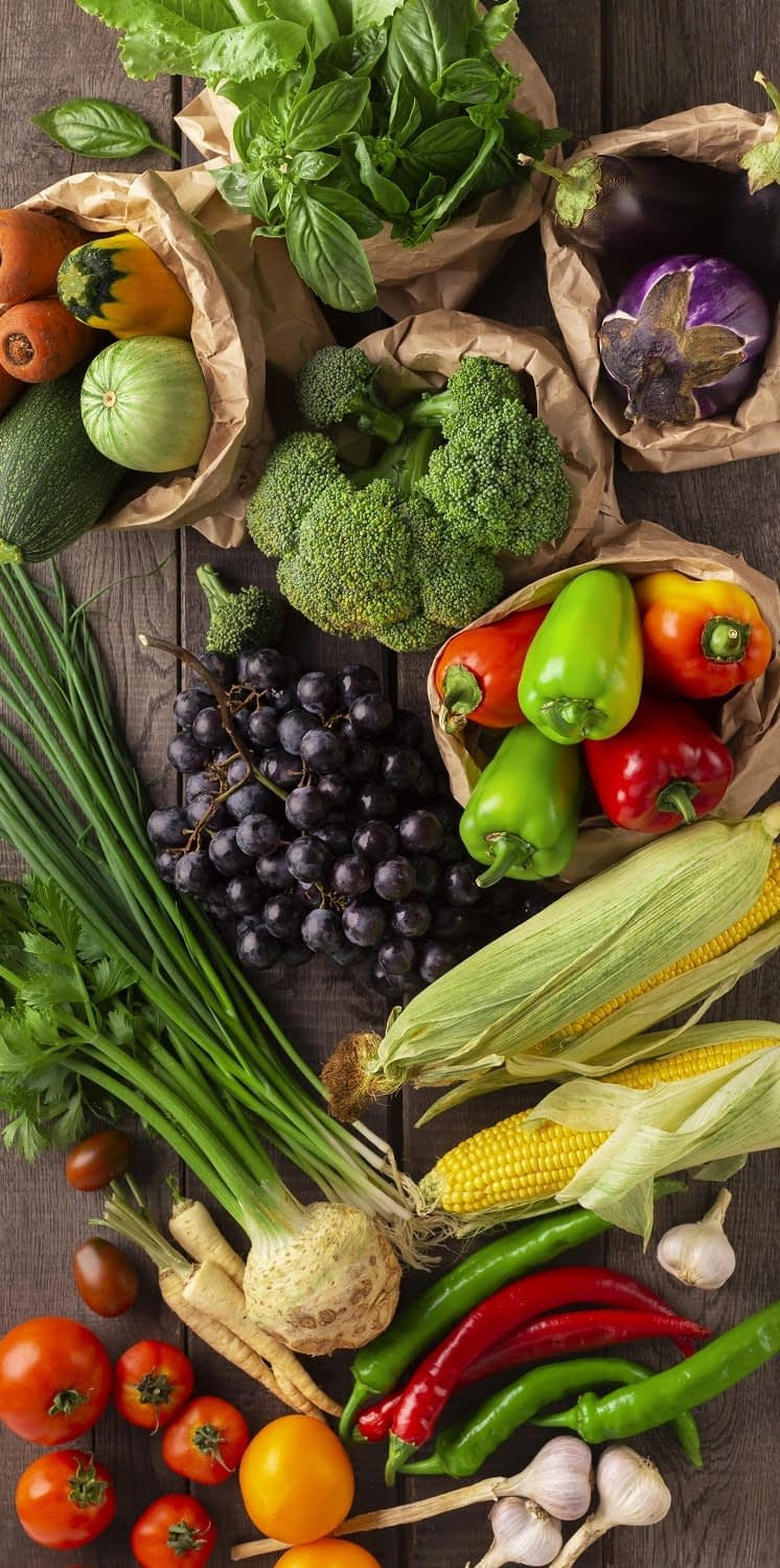 fruits and vegetables for the blue zone diet