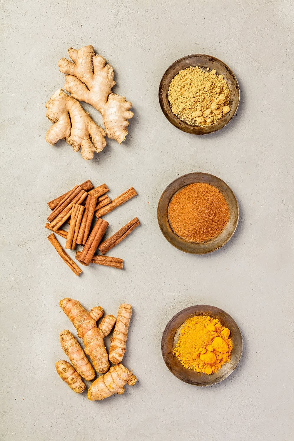ginger turmeric and cinnamon
