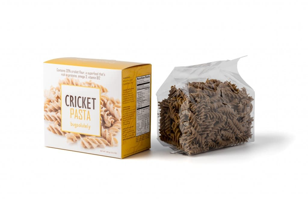 Bugsolutely's Cricket Pasta. A Superfood Filled with Protein, Vitamin B12, Fibre, and Iron.
