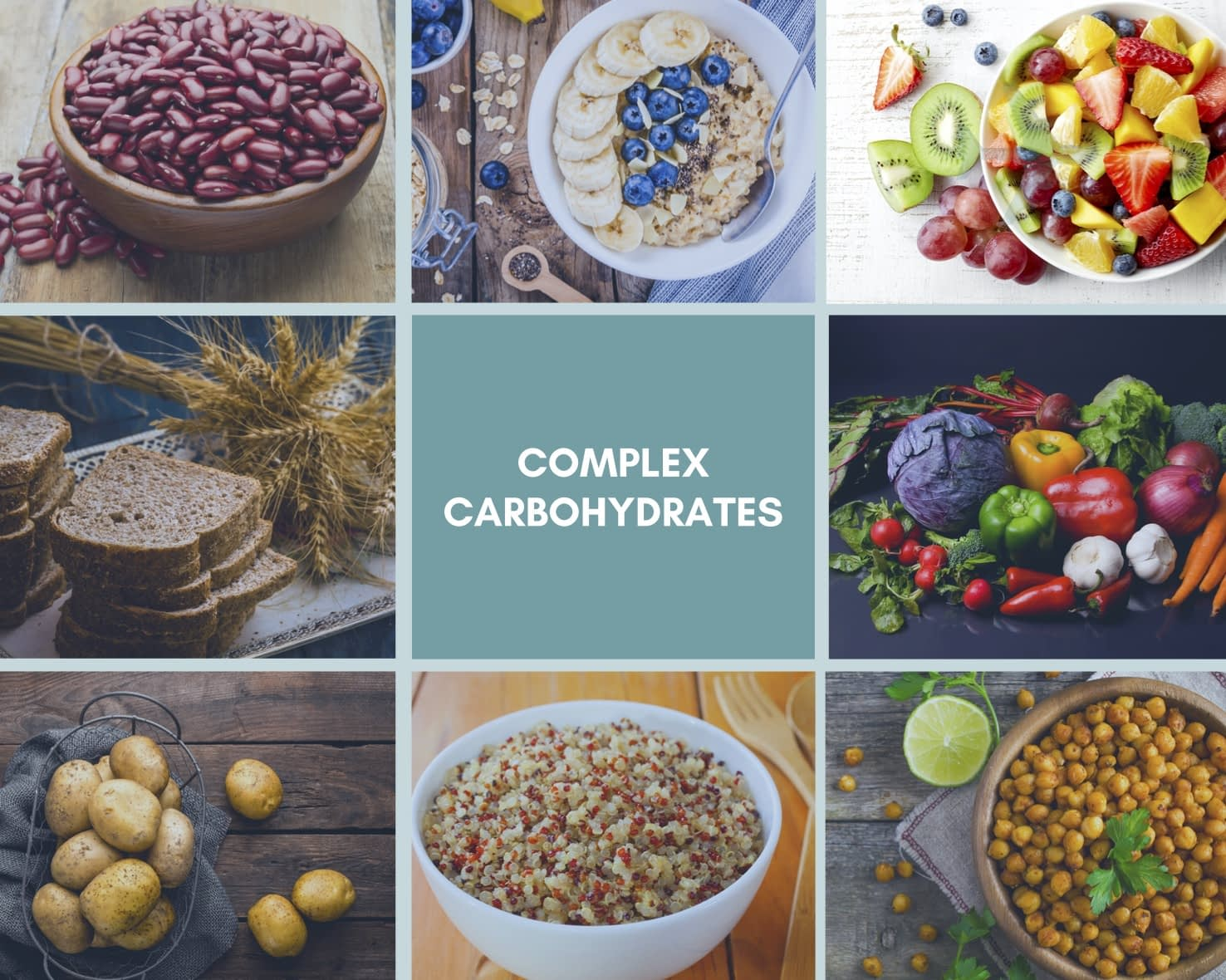 complex carbohydrates, infographic, complex carbs examples