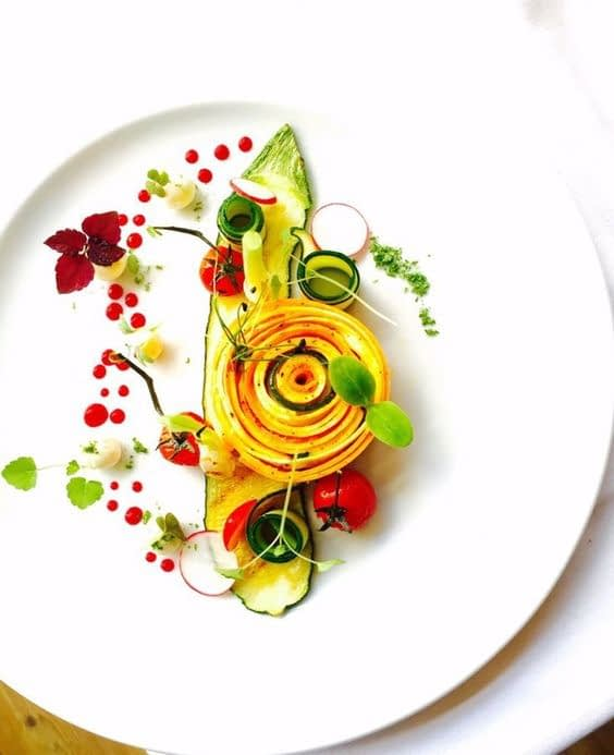 geometric food styling, spring food styling
