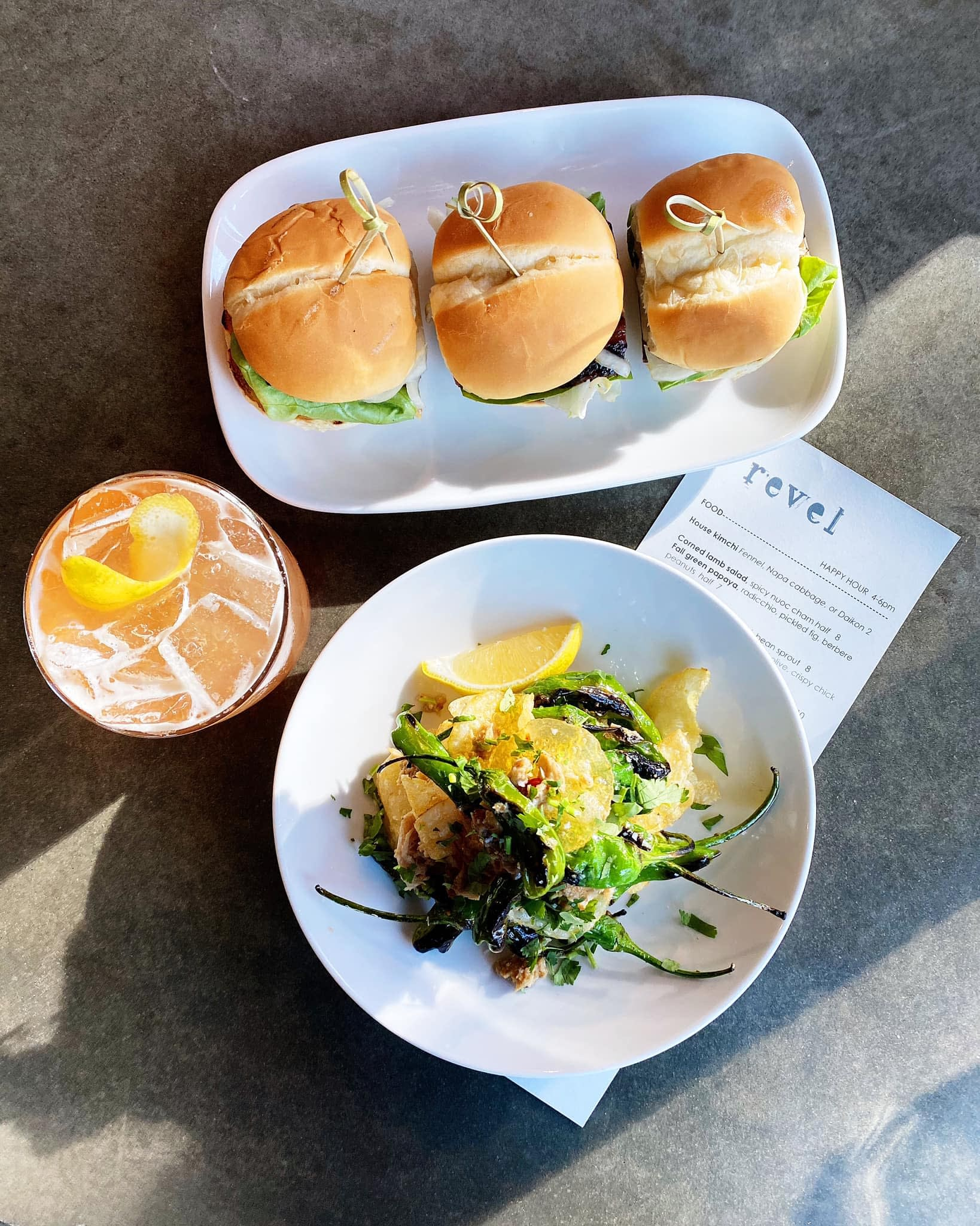 Slider and Salad from Revel